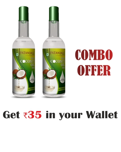 Patanjali 100% Pure Virgin Coconut oil 250ml Combo (pack of 2)- Rs 35 Off