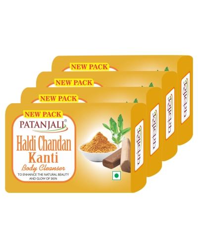 HALDI CHANDAN KANTI BODY CLEANSER-(4X1) 57 GM