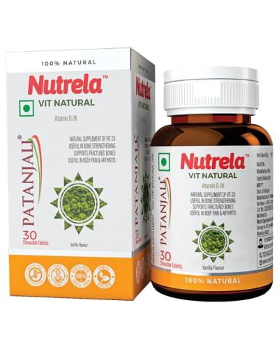 Patanjali Nutrela VIT D Natural-30 Tab