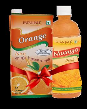 PATANJALI FRUIT BEVERAGES COMBO ( MANGO DRINK 500Ml + ORANGE JUICE 1Ltr)