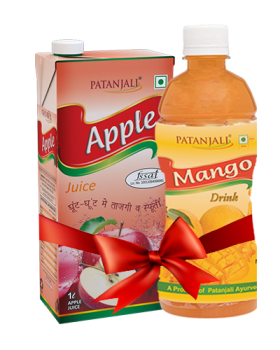PATANJALI FRUIT BEVERAGES COMBO ( MANGO DRINK 500Ml  + APPLE JUICE 1Ltr)