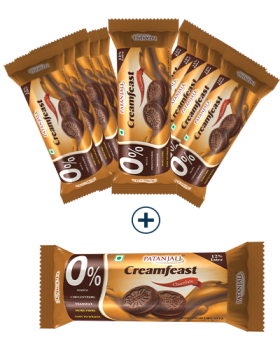 PATANJALI CREAMFEAST CHOCOLATE BISCUIT (PACK OF 12)