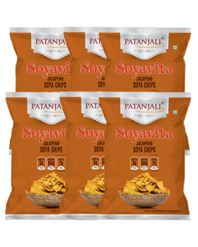 SOYAVITA JALAPENO SOYA CHIPS 100 GM ( PACK OF 6)