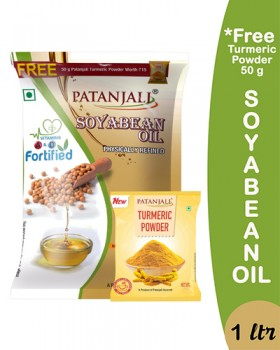 SOYABEAN OIL 1 LTR  POUCH (Free 50gm TURMERIC POWDER)