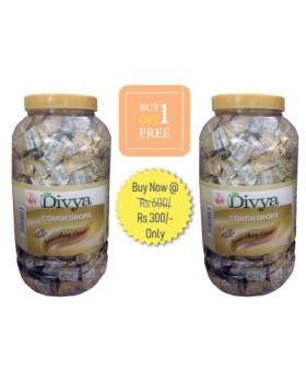 DIVYA COUGH DROPS - GINGER  (JAR)(Buy 1 Get 1 Free)
