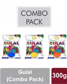 AASTHA NATURAL GULAL Pack of 3 (Red, Yellow & Blue)