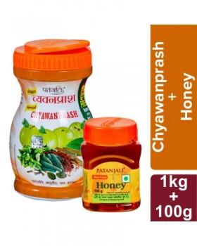 Patanjali Special Chyawanprash 1 Kg - FREE Honey 100 Gm