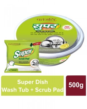 Patanjali Super Dish Wash Tub Plus Scrub Pad
